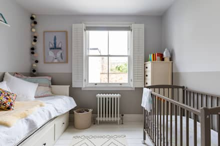 North West London Terraced House: classic Nursery/kid's room by VORBILD Architecture Ltd.
