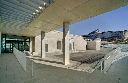 Vista del acceso lateral de la Universidad de Gibraltar: Escuelas de estilo  de Ayaltointegral