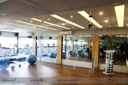 Zumba Classes Area: modern Gym by intent interior