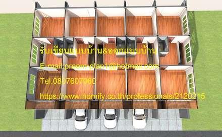 Rumah keluarga besar by รับเขียนแบบบ้าน&ออกแบบบ้าน