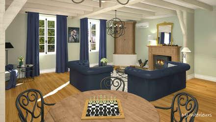 Le salon: Salon de style de stile Rural par MJ Intérieurs