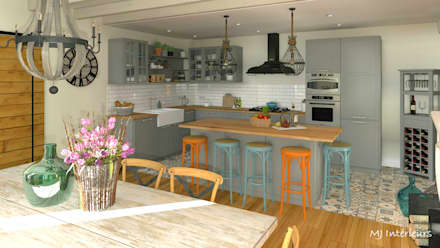 Built-in kitchens by MJ Intérieurs