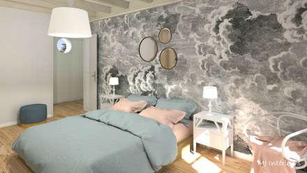 La chambre d'amis: Chambre de style de stile Rural par MJ Intérieurs