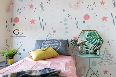 高雄F宅‧顯色調:  育嬰房 by 秐果設計