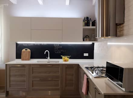 Illuminare dove serve, anche in cucina.: Cucina in stile in stile Scandinavo di Rifò