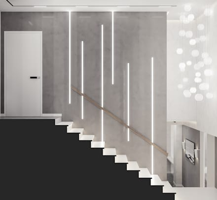 Дизайн-проект квартиры на ЮБК: Лестницы в . Автор – Фирма Крымпроектстрой