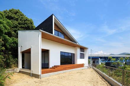 haus-agit 外観: 一級建築士事務所hausが手掛けた一戸建て住宅です。