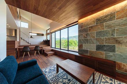 haus-agit リビング: 一級建築士事務所hausが手掛けたリビングです。