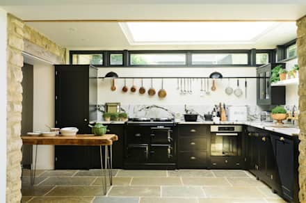 The Chipping Norton Kitchen by deVOL: eclectic Kitchen by deVOL Kitchens