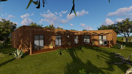 منزل خشبي تنفيذ Discovercasa | Casas de Madeira & Modulares