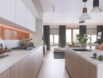 Кухня: Встроенные кухни в . Автор – Татьяна Аверкина