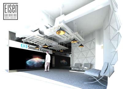 Área interna del Visualizer.: Oficinas de estilo escandinavo por Eisen Arquitecto