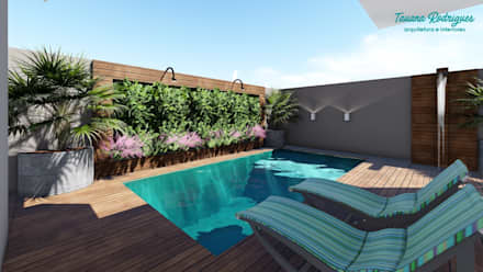 حديقة Zen تنفيذ Tauana Rodrigues - Arquitetura e Interiores