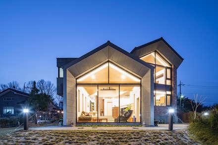 전라북도 익산시 삼기면 기산리 단독주택 신축: 바이제로의  주택