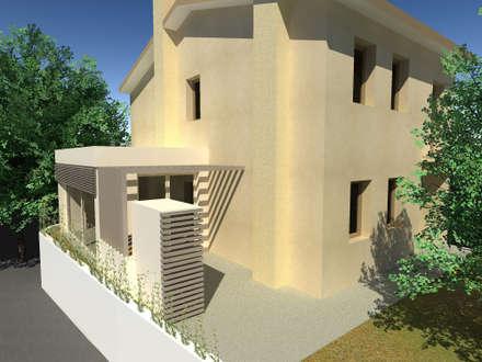 SERRA BIOCLIMATICA: Giardino d'inverno in stile in stile Moderno di studio arch sara baggio