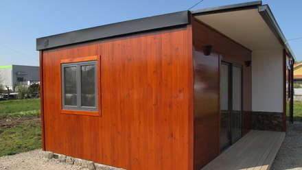 Modelo | T1 55m²: Casas pré-fabricadas  por Discovercasa | Casas de Madeira & Modulares