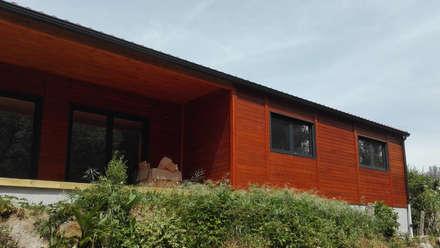 Modelo | T3 129m²: Casas pré-fabricadas  por Discovercasa | Casas de Madeira & Modulares