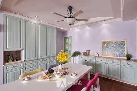 樂活    美式鄉村 3房2廳    芸匠室內設計 Artisan Design:  餐廳 by 芸匠室內裝修設計有限公司