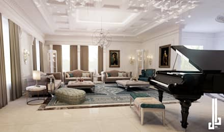 French classical villa: classic Living room by dal design office