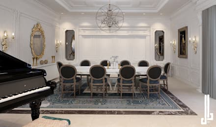 French classical villa: classic Dining room by dal design office