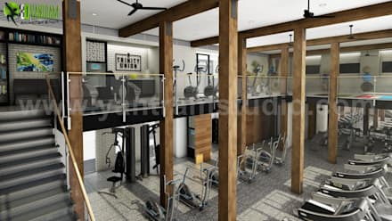 A Perfect Community Apartment Facilities Visualisation with Yantram Architectural and design services - New jersey, USA : modern Gym by Yantram Architectural Design Studio