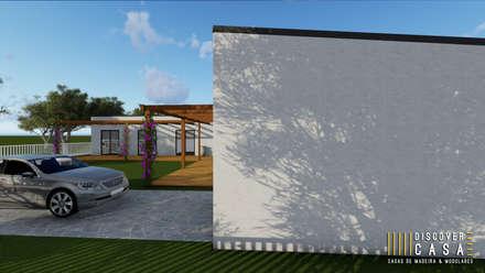 Modelo | T5 324m²: Casas pré-fabricadas  por Discovercasa | Casas de Madeira & Modulares