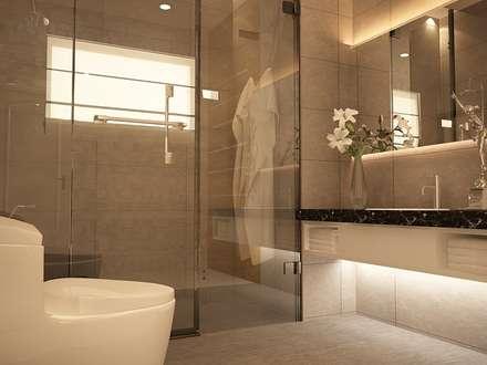 Baños de estilo topical por Yucas Design & Build Sdn. Bhd.