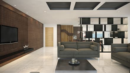 tropical Living room by Yucas Design & Build Sdn. Bhd.