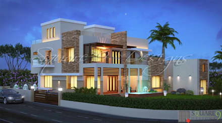 ALI ASGHAR  DHAMANGAON: classic Houses by Square 9 Designs