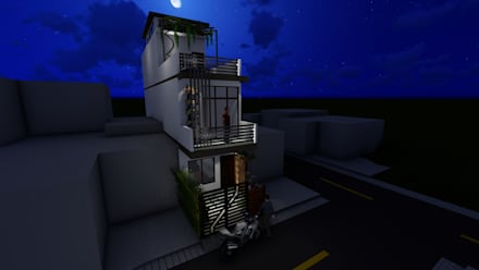 Ravi's Residence:  Single family home by Mahajan Architectural Studio