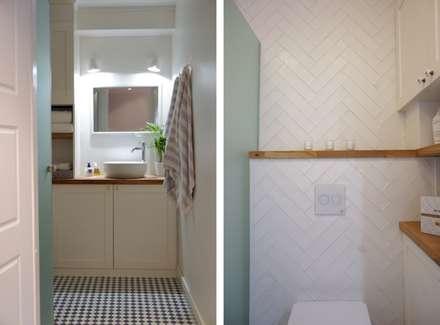 Badezimmer in weiß skandinavisch: skandinavische Badezimmer von Baltic Design Shop