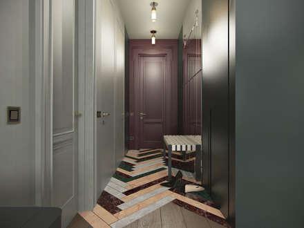 Pasillos y hall de entrada de estilo  por Бюро 19.23