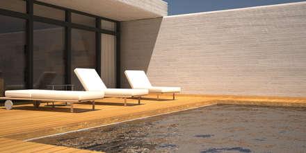 Piscina y Solarium: Piscinas de jardín de estilo  de Juan Millán Peregrín - Arquitecto autónomo