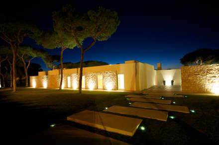 Сад камней в . Автор – Castello-Branco Arquitectos, Lda