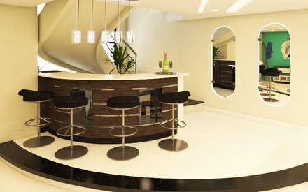 Mini Bar - Escalera: Escaleras de estilo  por Arquitecto Javier Escobar
