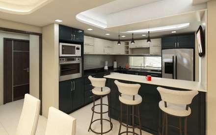 Cocina - Desayunador: Cocinas equipadas de estilo  por Arquitecto Javier Escobar