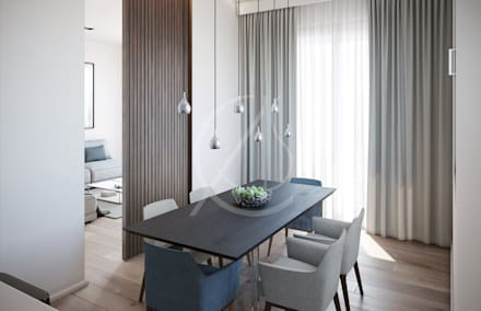 Ultra-Modern Flat Design: modern Dining room by Comelite Architecture, Structure and Interior Design