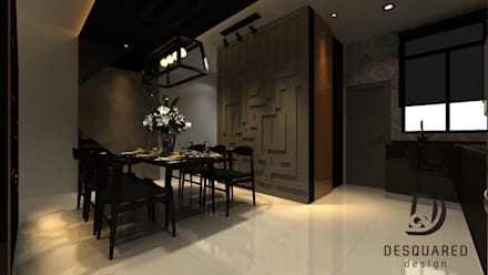 Dining View 1: modern Dining room by Desquared Design