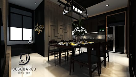 Dining View 2: modern Dining room by Desquared Design