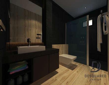 Master Bathroom: modern Bathroom by Desquared Design