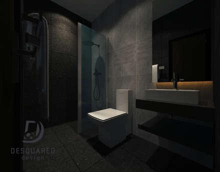 Bath 1: modern Bathroom by Desquared Design