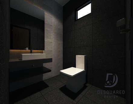 Common Bath: modern Bathroom by Desquared Design