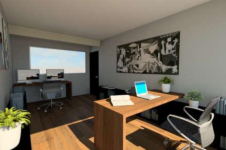 Vista Estudio: Estudios y oficinas de estilo moderno por eleganty