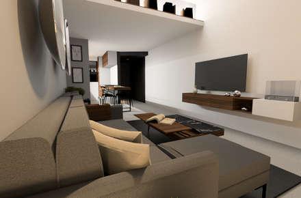 Vista TV: Salas de estilo moderno por eleganty