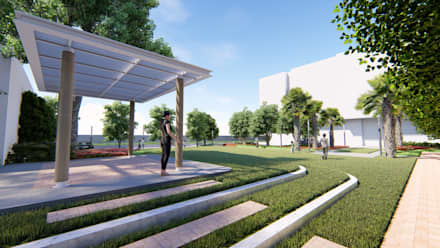 Landscape Design Presentation:  Commercial Spaces by ADS : Archawin Design Studio