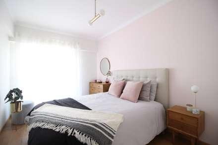 Quarto cor-de-rosa: Quartos escandinavos por Rima Design
