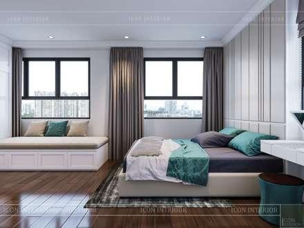 THIẾT KẾ CĂN HỘ CAO CẤP WILTON TOWER - Đẹp thanh lịch trong từng đường nét:  Phòng ngủ by ICON INTERIOR