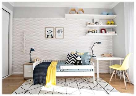The Happy room: Quartos de criança escandinavos por RG Home Stylist