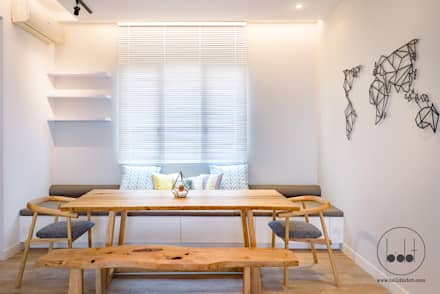 NAUTICA LAKESUITES CONDOMINIUM , KL: scandinavian Dining room by BND STUDIO