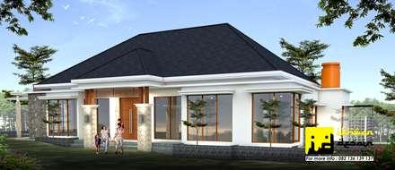 Rumah Modern Tropis:  Rumah tinggal  by Ikhwan desain